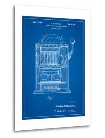 Vintage Slot Machine 1932 Patent-Cole Borders-Metal Print