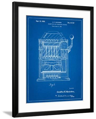 Vintage Slot Machine 1932 Patent-Cole Borders-Framed Art Print