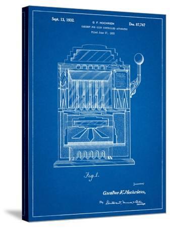 Vintage Slot Machine 1932 Patent-Cole Borders-Stretched Canvas Print