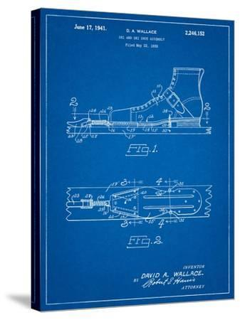 Vintage Ski's Patent-Cole Borders-Stretched Canvas Print