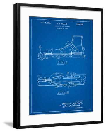 Vintage Ski's Patent-Cole Borders-Framed Art Print