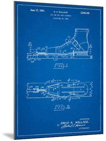 Vintage Ski's Patent-Cole Borders-Mounted Art Print