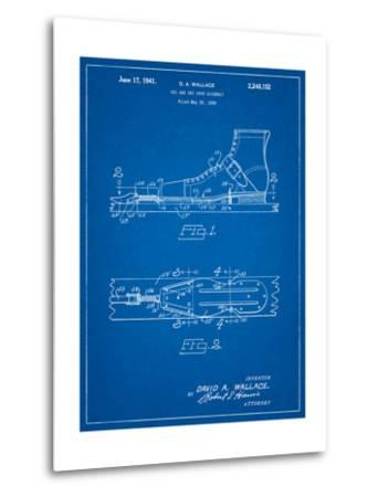 Vintage Ski's Patent-Cole Borders-Metal Print