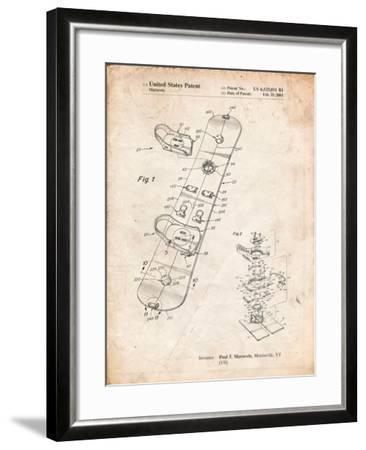 Burton Touring Snowboard Patent-Cole Borders-Framed Art Print