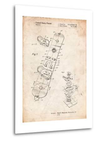 Burton Touring Snowboard Patent-Cole Borders-Metal Print