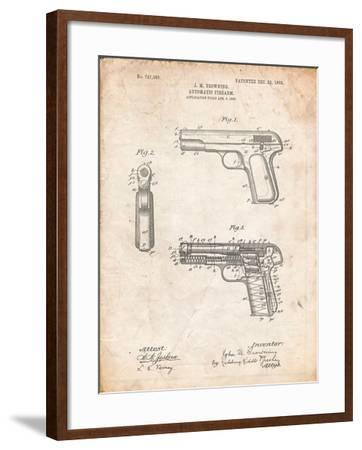 Browning No. 2 Handgun Patent-Cole Borders-Framed Art Print