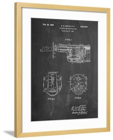 Portable Reciprocating Saw-Cole Borders-Framed Art Print