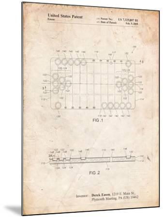 Beer Pong Patent-Cole Borders-Mounted Art Print