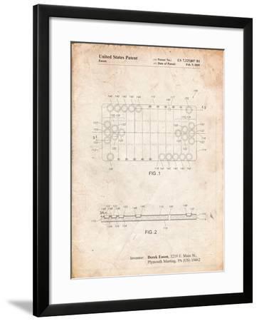 Beer Pong Patent-Cole Borders-Framed Art Print