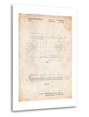 Beer Pong Patent-Cole Borders-Metal Print