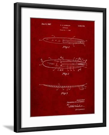 Surfboard 1965 Patent-Cole Borders-Framed Art Print