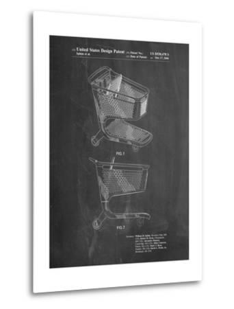 Target Shopping Cart Patent-Cole Borders-Metal Print