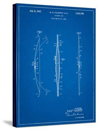 Bill Folberth Archery Bow Patent-Cole Borders-Stretched Canvas Print