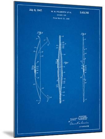 Bill Folberth Archery Bow Patent-Cole Borders-Mounted Art Print