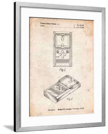 Mattel Electronic Basketball Game Patent-Cole Borders-Framed Art Print