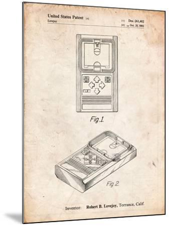 Mattel Electronic Basketball Game Patent-Cole Borders-Mounted Art Print