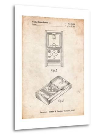 Mattel Electronic Basketball Game Patent-Cole Borders-Metal Print