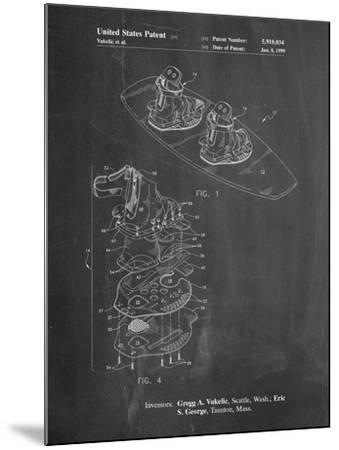 Wakeboard Patent-Cole Borders-Mounted Art Print