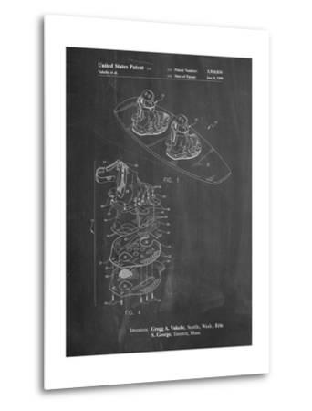 Wakeboard Patent-Cole Borders-Metal Print