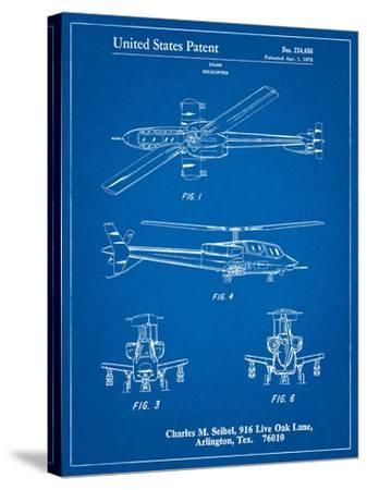 Helicopter Patent Print-Cole Borders-Stretched Canvas Print