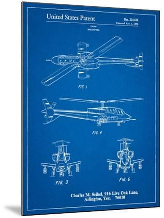Helicopter Patent Print-Cole Borders-Mounted Art Print