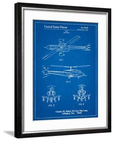 Helicopter Patent Print-Cole Borders-Framed Art Print