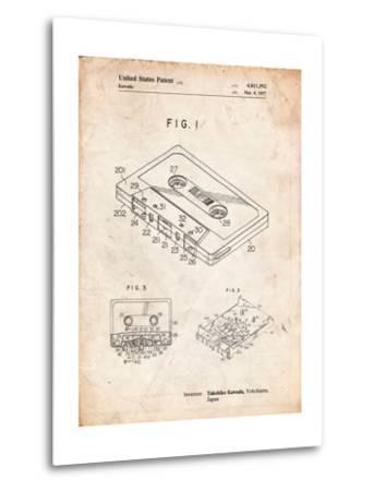 Cassette Tape Patent-Cole Borders-Metal Print