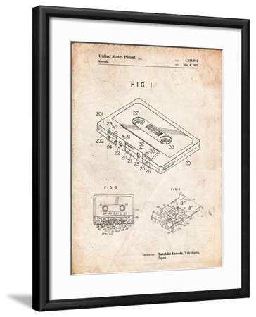 Cassette Tape Patent-Cole Borders-Framed Art Print
