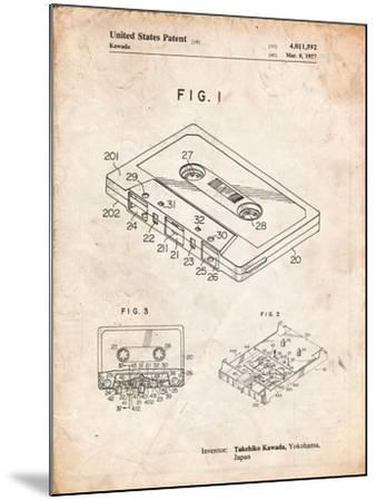 Cassette Tape Patent-Cole Borders-Mounted Art Print