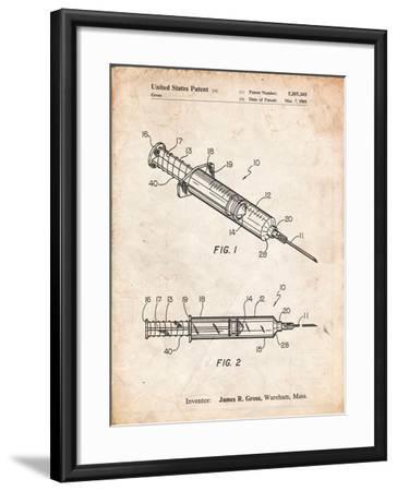Syringe Patent-Cole Borders-Framed Art Print