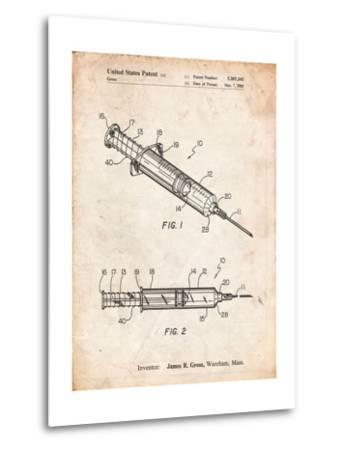 Syringe Patent-Cole Borders-Metal Print