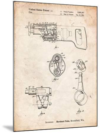 Milwaukee Reciprocating Saw Patent-Cole Borders-Mounted Art Print