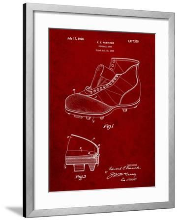 Football Cleat 1928 Patent-Cole Borders-Framed Art Print