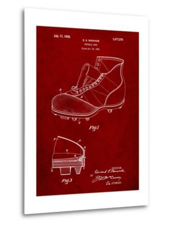 Football Cleat 1928 Patent-Cole Borders-Metal Print