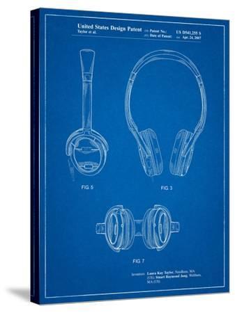 Noise Canceling Headphones Patent-Cole Borders-Stretched Canvas Print