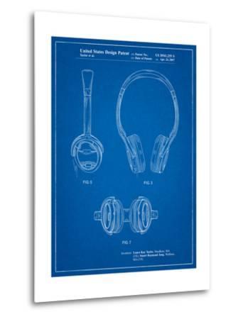 Noise Canceling Headphones Patent-Cole Borders-Metal Print