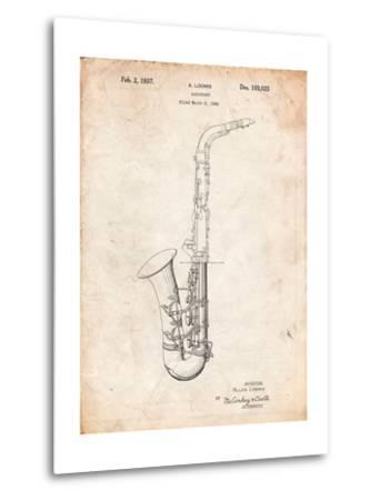Conn a Melody Saxophone Patent-Cole Borders-Metal Print
