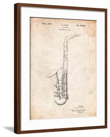 Conn a Melody Saxophone Patent-Cole Borders-Framed Art Print