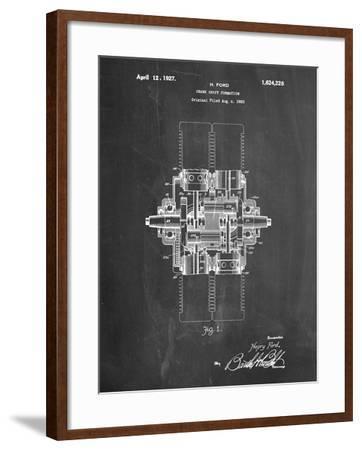 Ford Crank Shaft 1920 Patent-Cole Borders-Framed Art Print