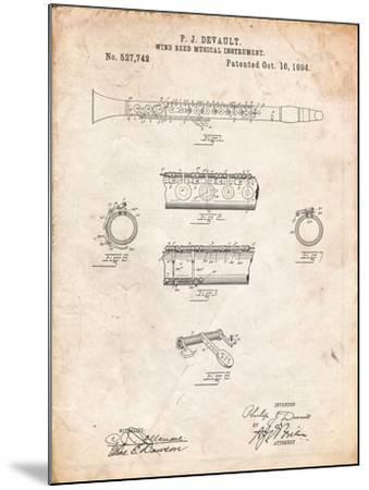 Clarinet 1894 Patent-Cole Borders-Mounted Art Print