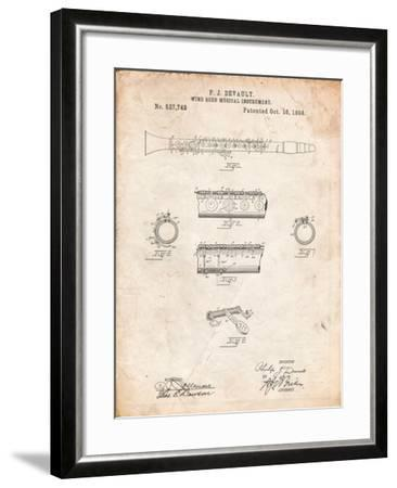 Clarinet 1894 Patent-Cole Borders-Framed Art Print