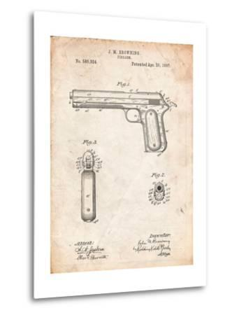 Colt Automatic Pistol of 1900 Patent-Cole Borders-Metal Print