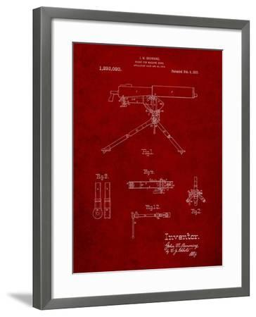 Mount for Machine Gun Patent-Cole Borders-Framed Art Print