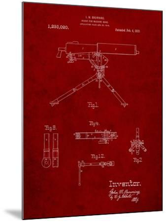 Mount for Machine Gun Patent-Cole Borders-Mounted Art Print