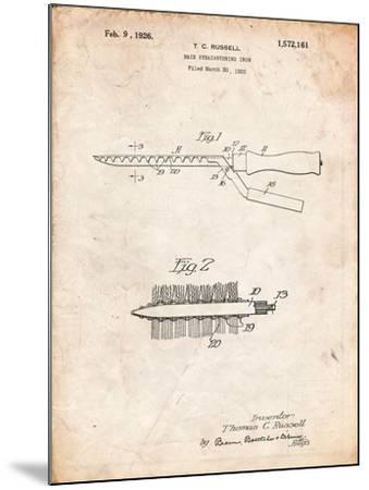 Curling Iron 1925 Patent-Cole Borders-Mounted Art Print