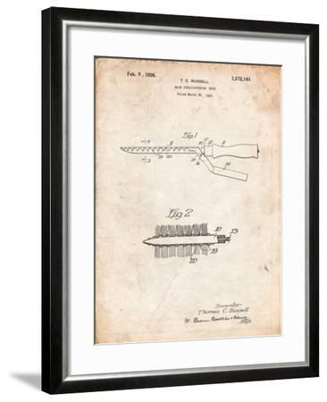 Curling Iron 1925 Patent-Cole Borders-Framed Art Print