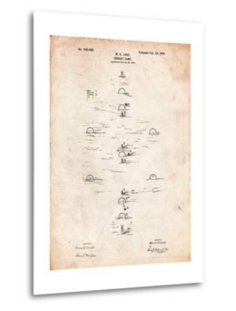 Croquet Game 1899 Patent-Cole Borders-Metal Print