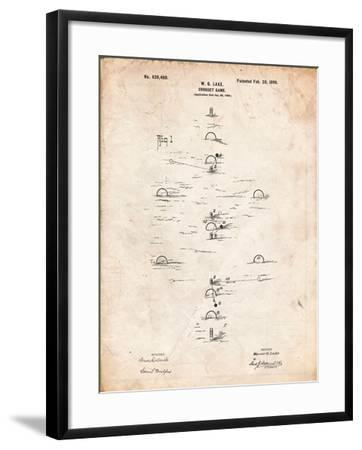 Croquet Game 1899 Patent-Cole Borders-Framed Art Print