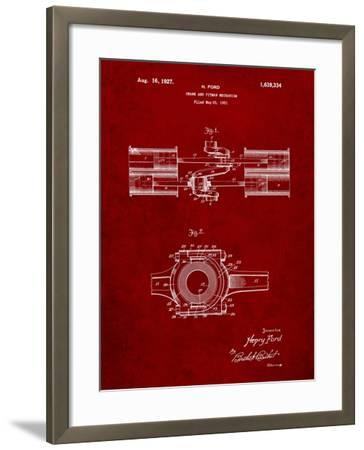 Ford Crank and Pitman-Cole Borders-Framed Art Print
