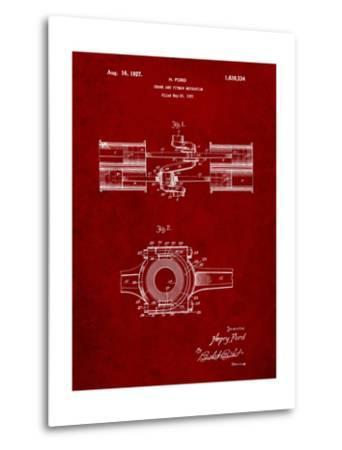 Ford Crank and Pitman-Cole Borders-Metal Print